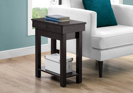 """ACCENT TABLE - 24""""H / CAPPUCCINO WITH STORAGE"""
