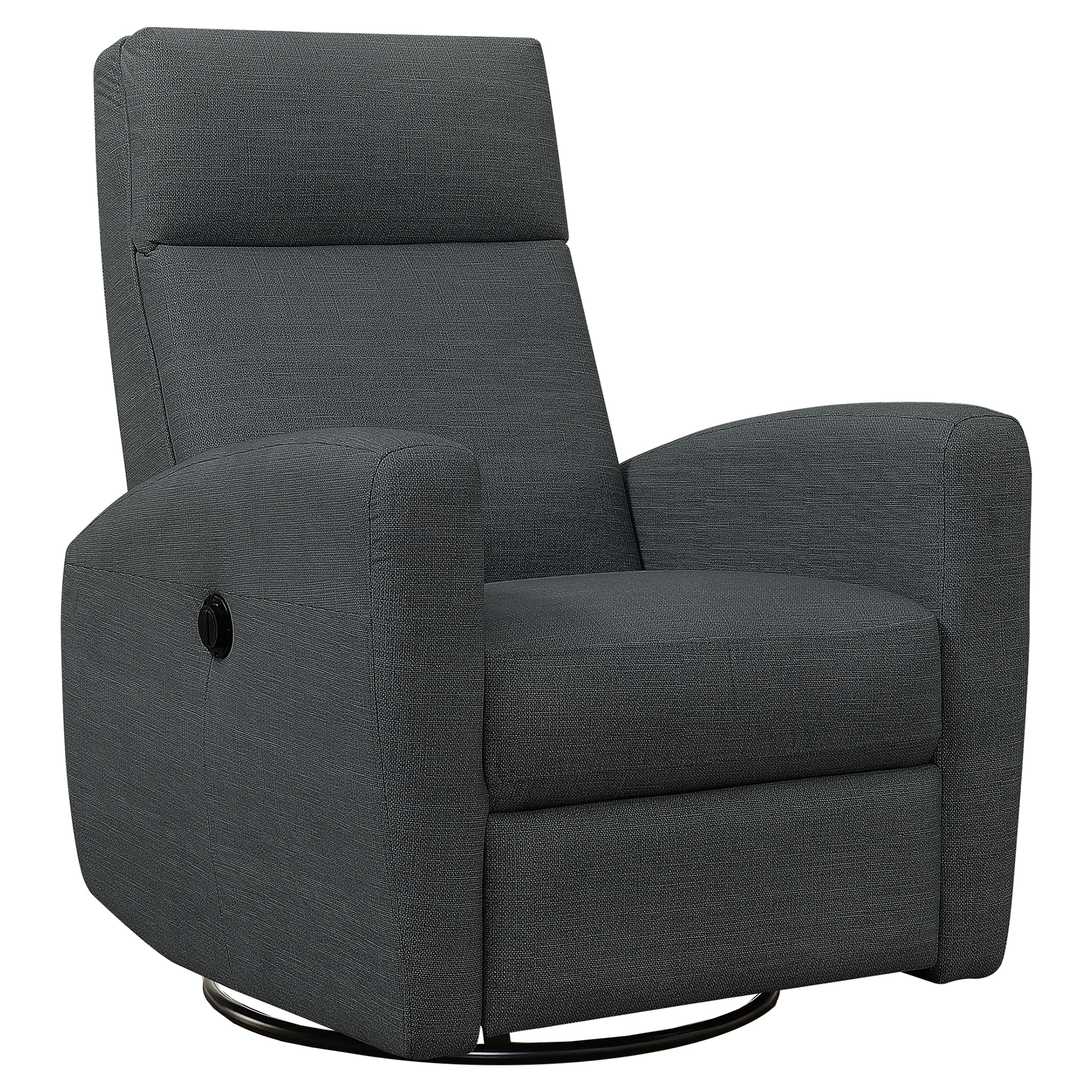 RECLINER - POWER SWIVEL GLIDER / CHARCOAL GREY FABRIC