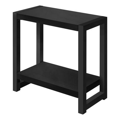 "ACCENT TABLE - 22""H / BLACK / BLACK METAL"