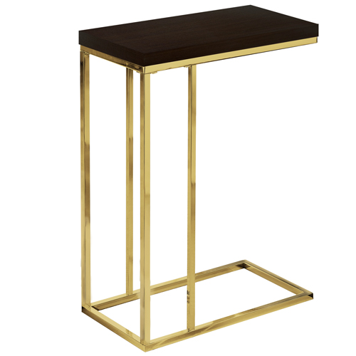 ACCENT TABLE - CAPPUCCINO / GOLD METAL