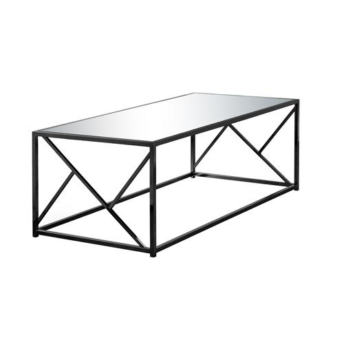 COFFEE TABLE - BLACK NICKEL METAL / MIRROR TOP