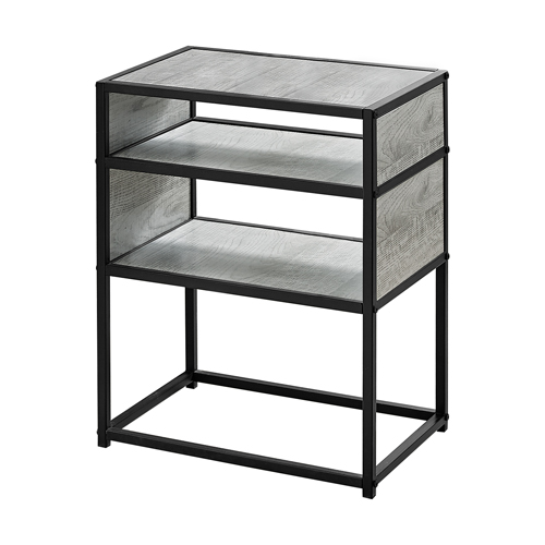 """ACCENT TABLE - 22""""H / GREY / BLACK METAL"""