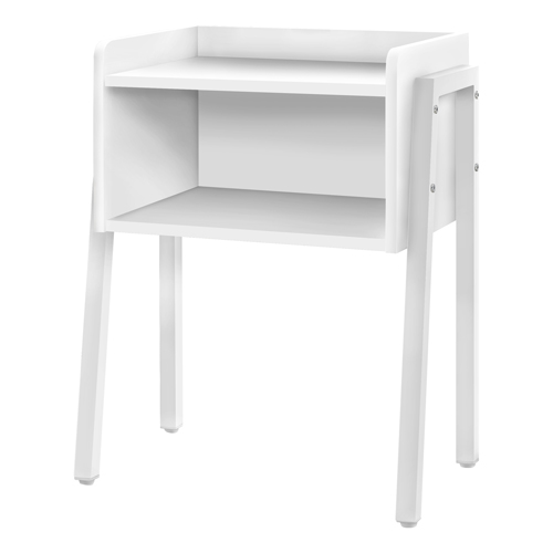 "ACCENT TABLE - 23""H / WHITE / WHITE METAL"
