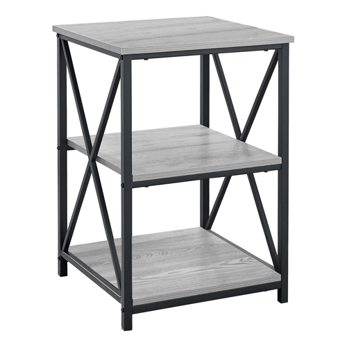 """ACCENT TABLE - 26""""H / GREY / BLACK METAL"""