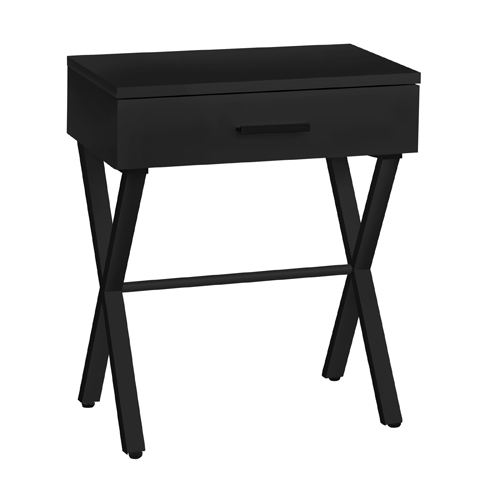 "ACCENT TABLE - 24""H / BLACK / BLACK METAL"
