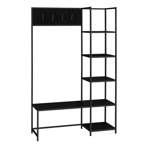 "BENCH - 72""H / BLACK / BLACK METAL HALL ENTRY"