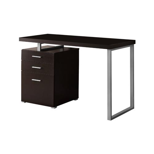 "48"" Hollow-Core Desk, Left Or Right Facing, Cappuccino"