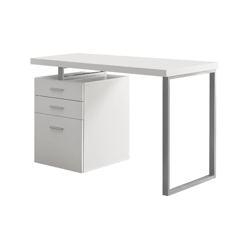 """48"""" Left Or Right Facing Hollow-Core Computer Desk, White"""