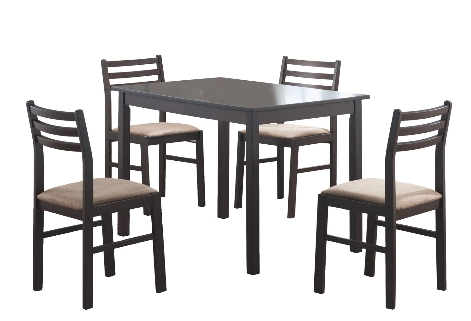Dining Set - 5 Pieces Set / Cappuccino Veneer