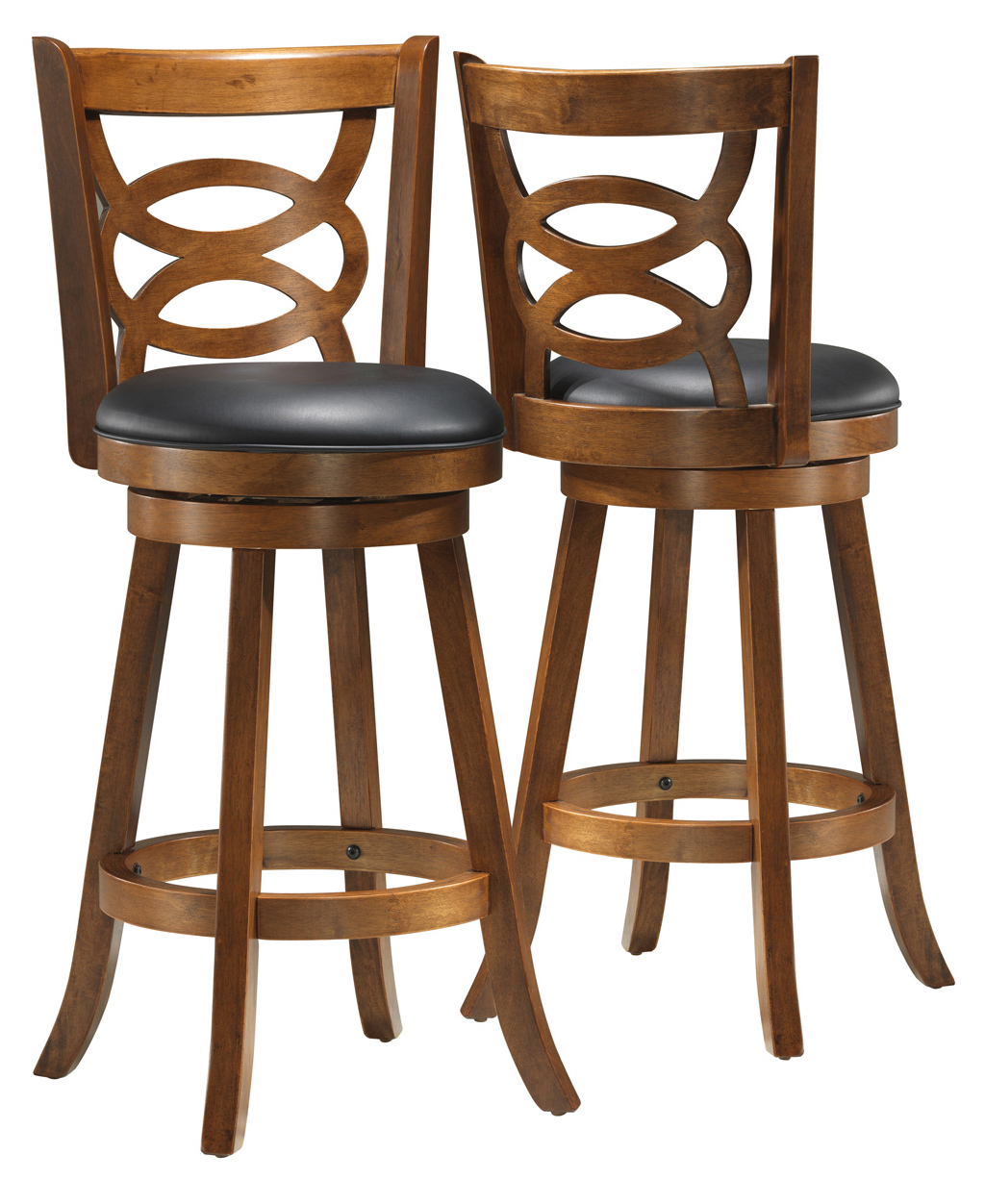 "Barstool - 2 Pieces / 42""H / Swivel / Dark Oak Bar Height"