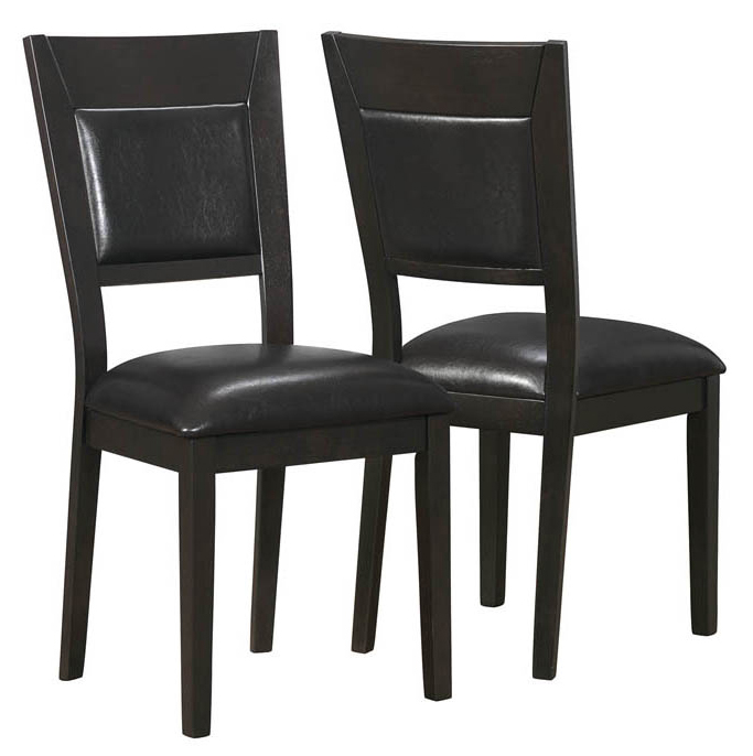 "Dining Chair - 2 Pieces / 39""H / Cappuccino / Brown Seat"