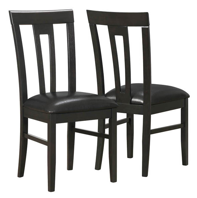 """Dining Chair - 2 Pieces / 39""""H / Cappuccino / Brown Seat"""