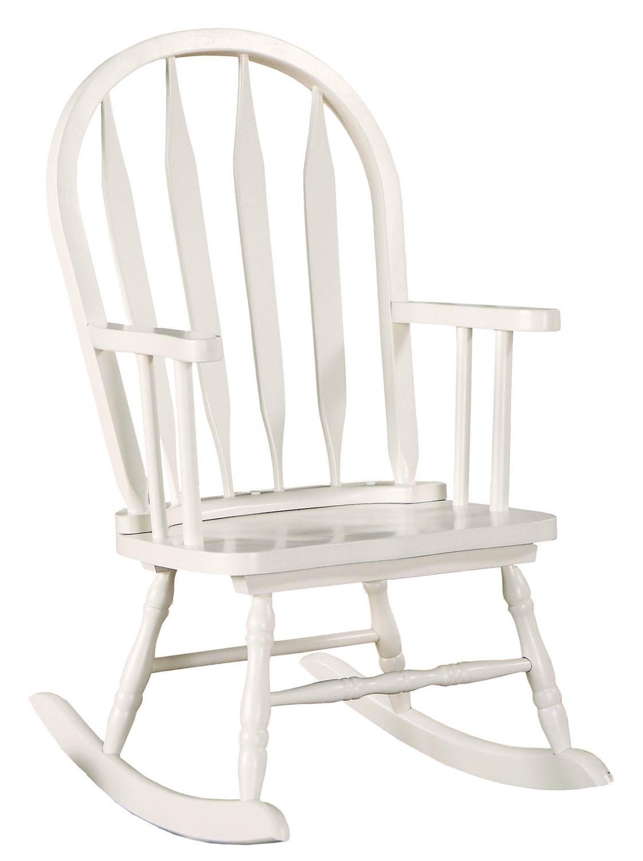 "Rocking Chair - 28""H / White Juvenile Arrow Back Style"