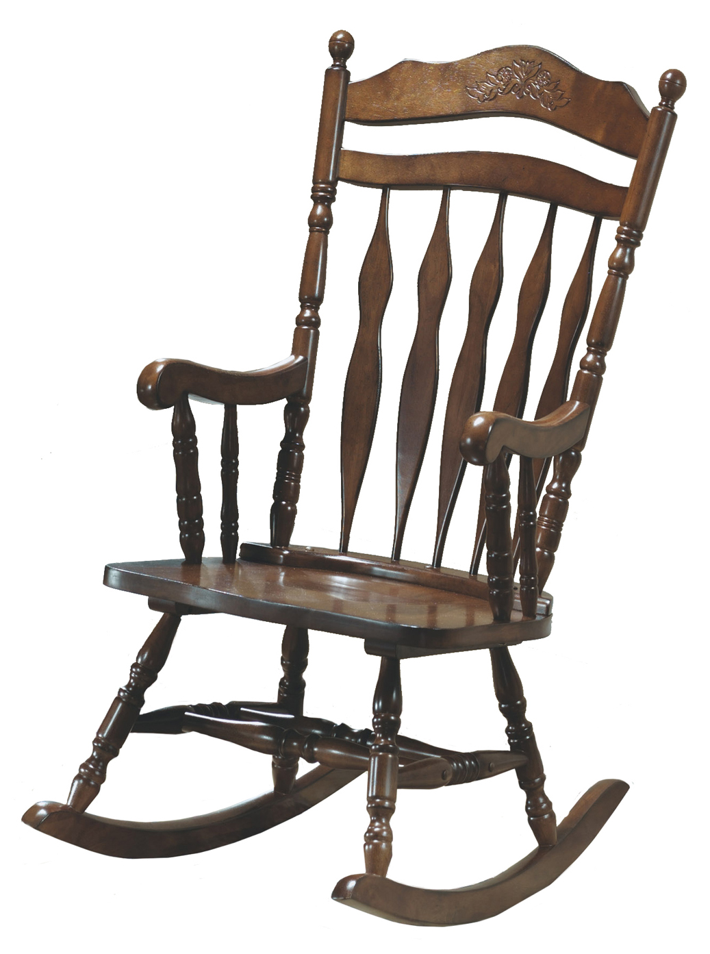 "Rocking Chair - 44""H / Dark Walnut Solid Wood"