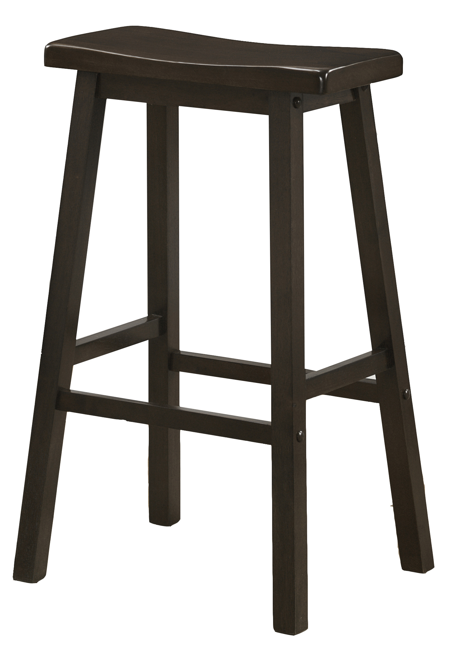 "Barstool - 2 Pieces / 29""H / Cappuccino Saddle Seat"