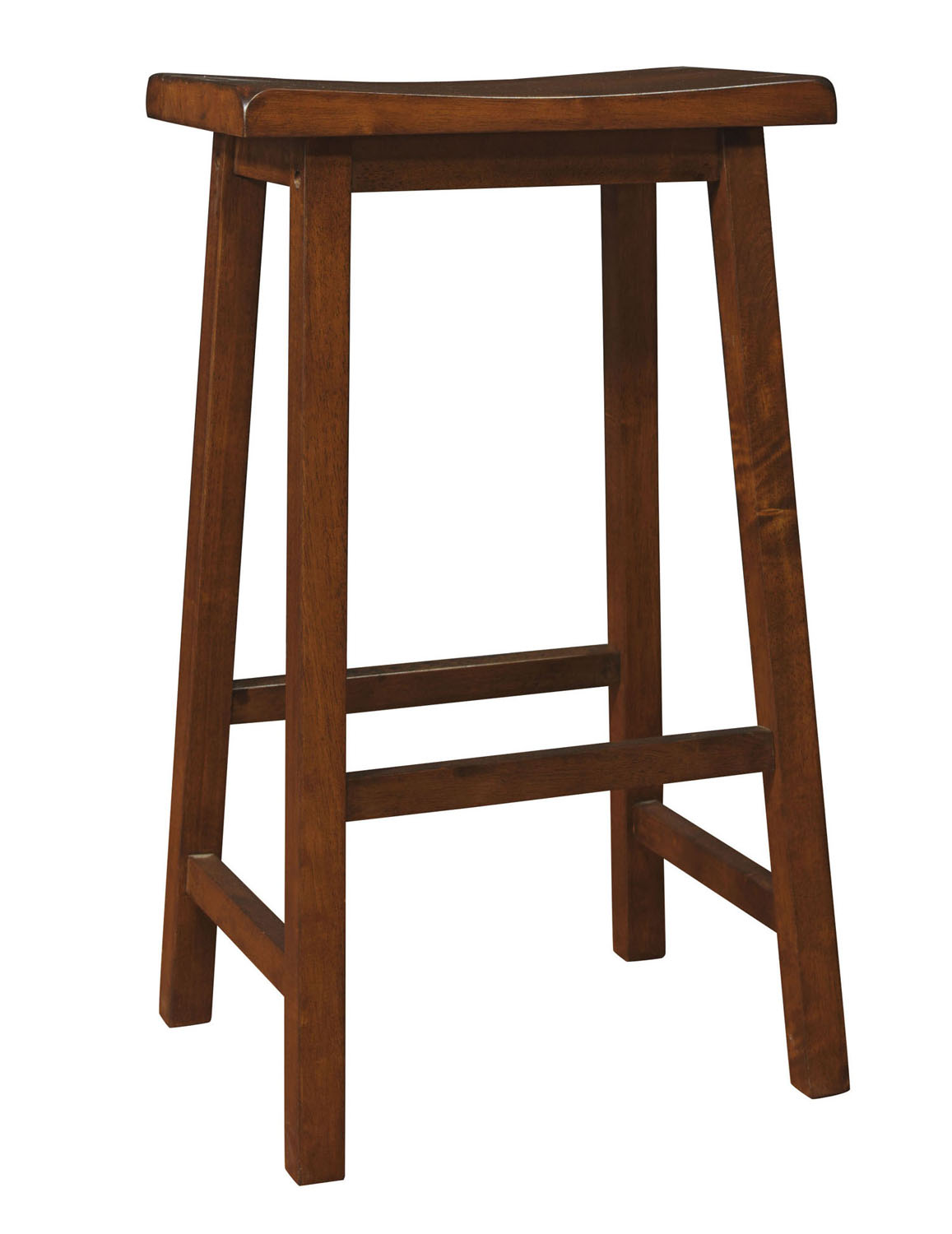 "Barstool - 2 Pieces / 29""H / Walnut Saddle Seat"