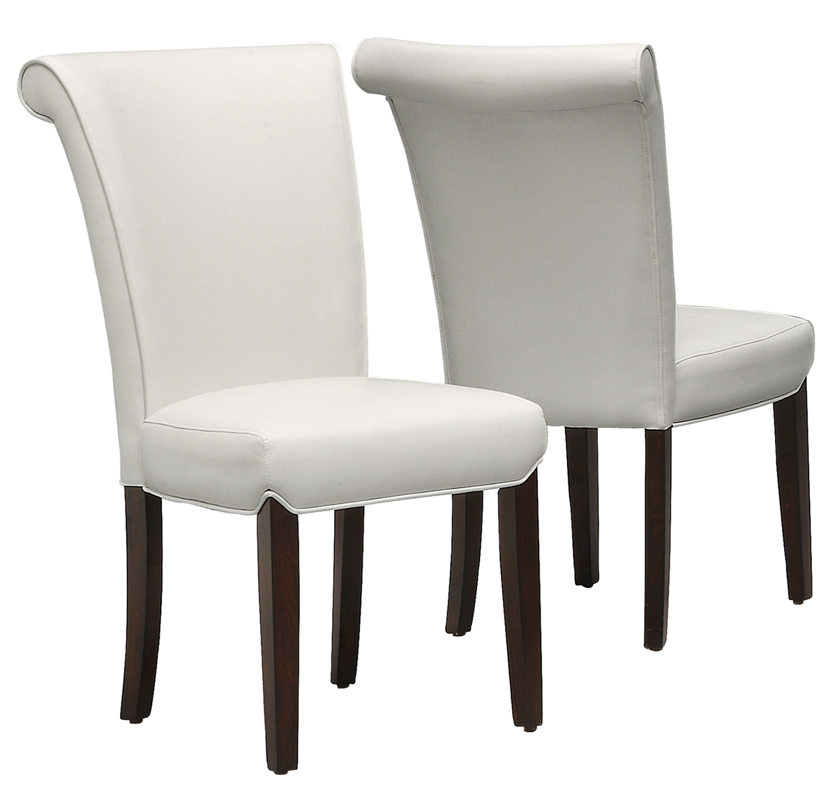 """Dining Chair - 2 Pieces / 39""""H / Taupe Leather-Look"""