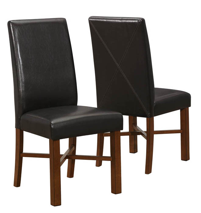 """Dining Chair - 2 Pieces / 39""""H / Modern Oak / Brown Seat"""