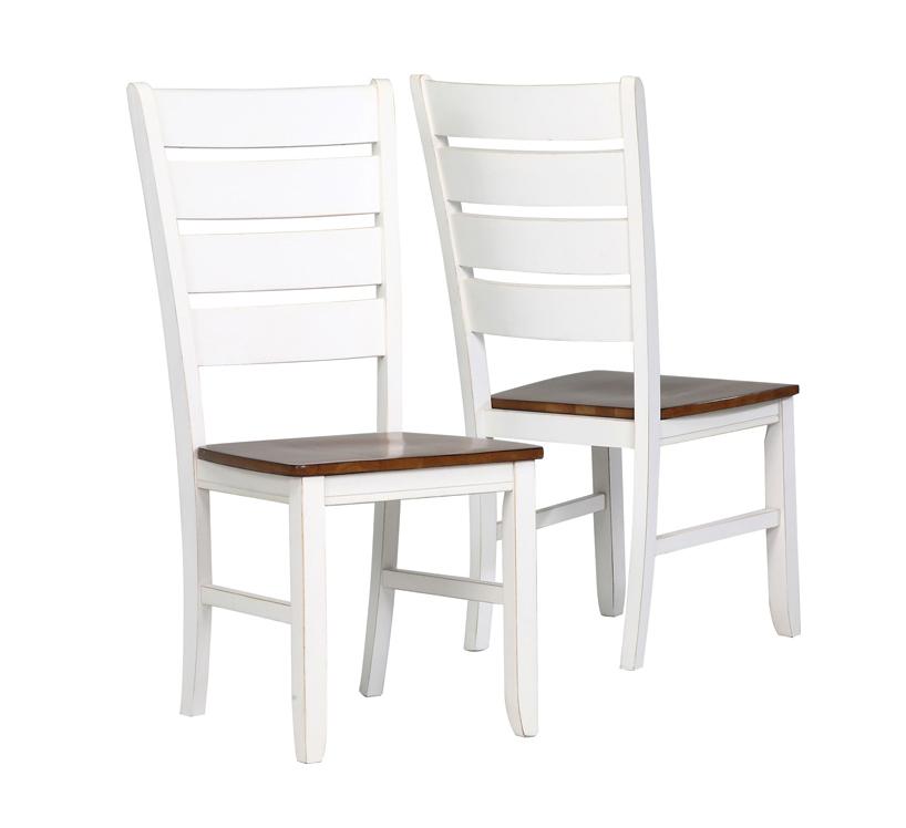 "Dining Chair - 2 Pieces / 40""H / Antique White / Oak"