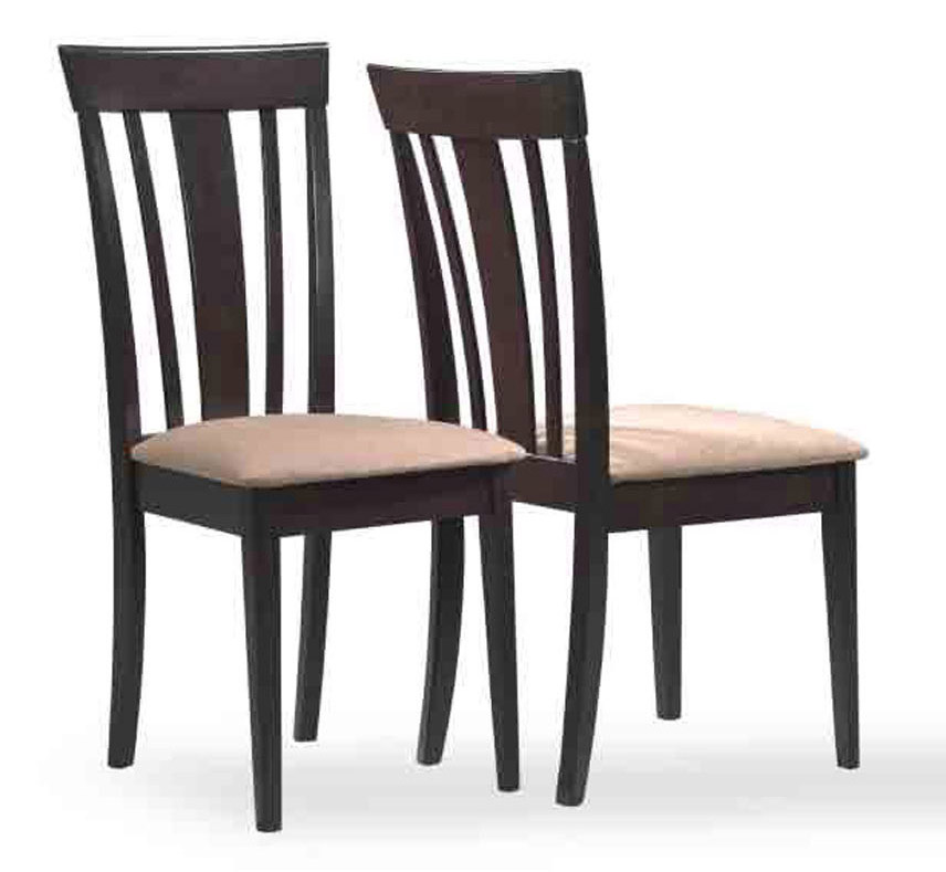 """Dining Chair - 2 Pieces / 38""""H / Cappuccino With Micro-Fibre"""