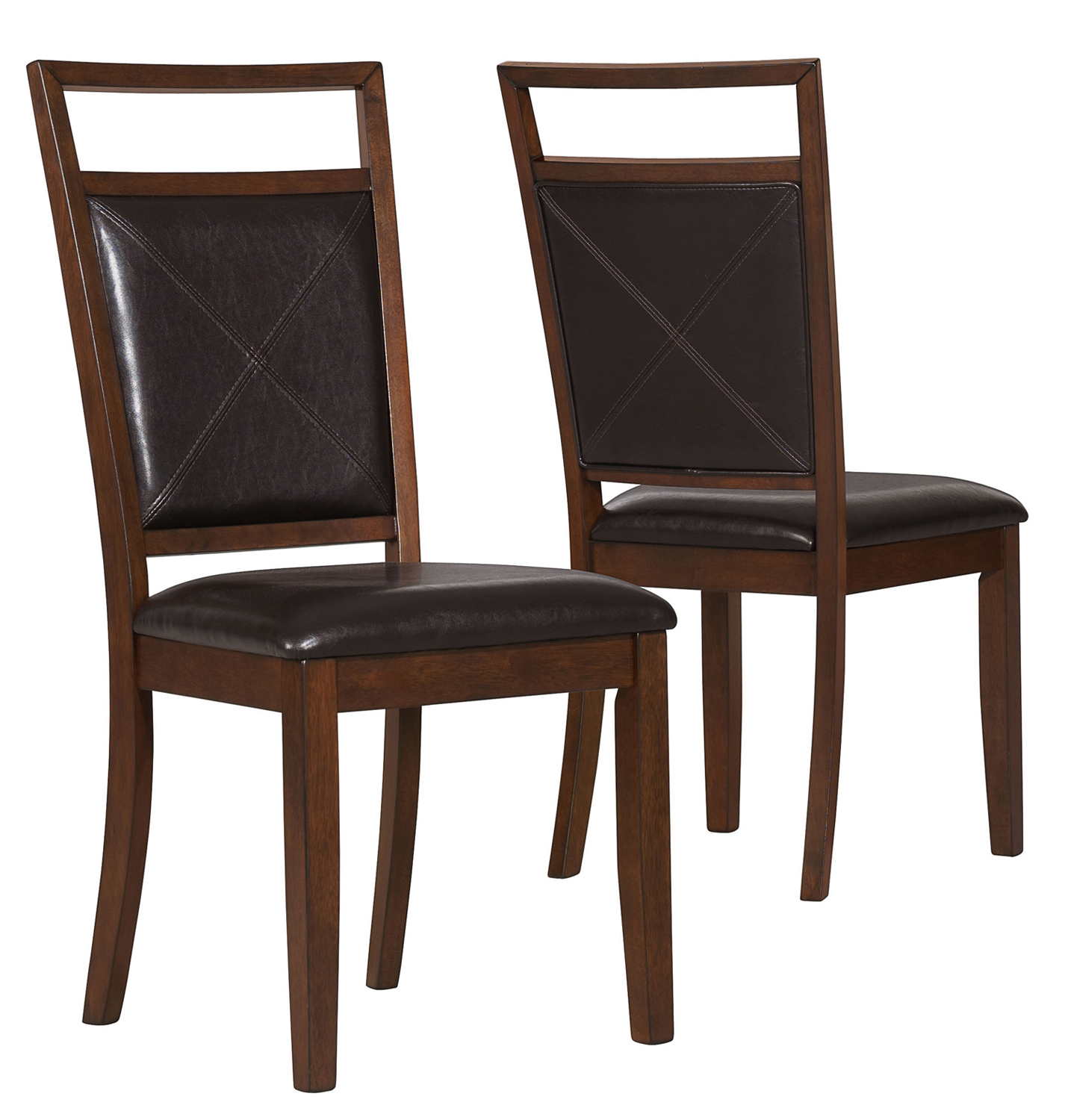 """Dining Chair - 2 Pieces / 40""""H / Brown Fabric"""