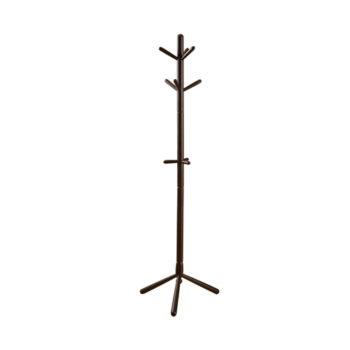 "69"" Contemporary Solid Wood Coat Rack, Cappuccino"