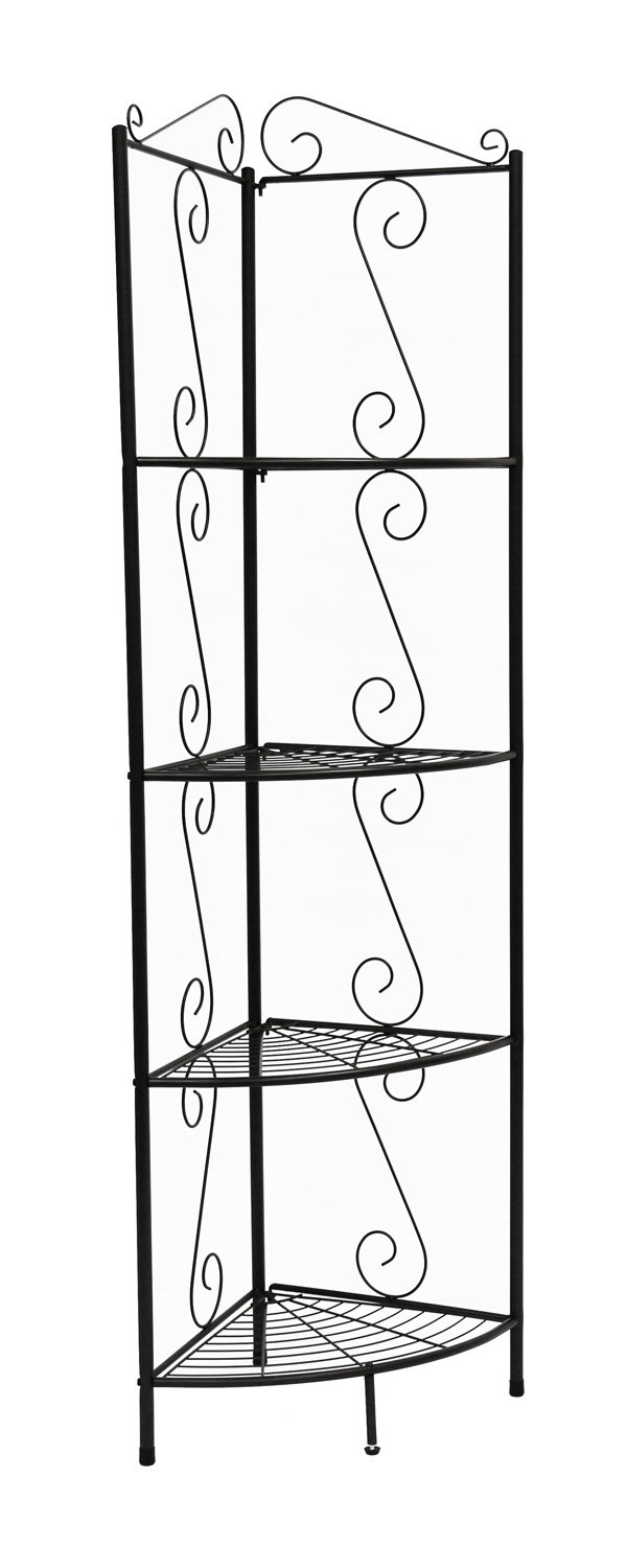 "70""H Metal Corner Etagere Bookcase, Copper"
