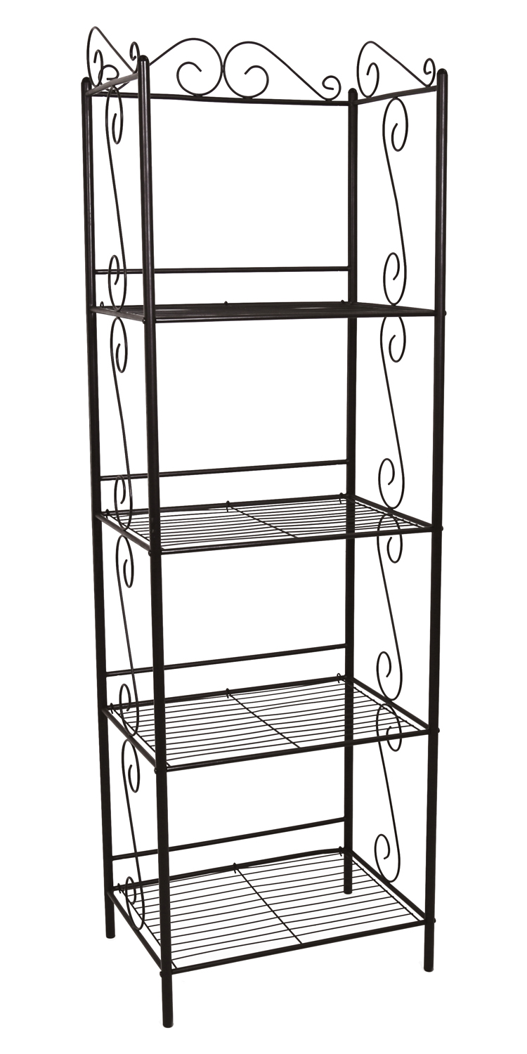 "71""H Metal Etagere Bookcase, Copper"