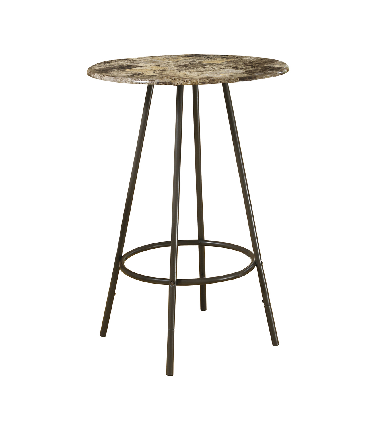"Home Bar - 30""Dia / Cappuccino Marble / Coffee Metal"