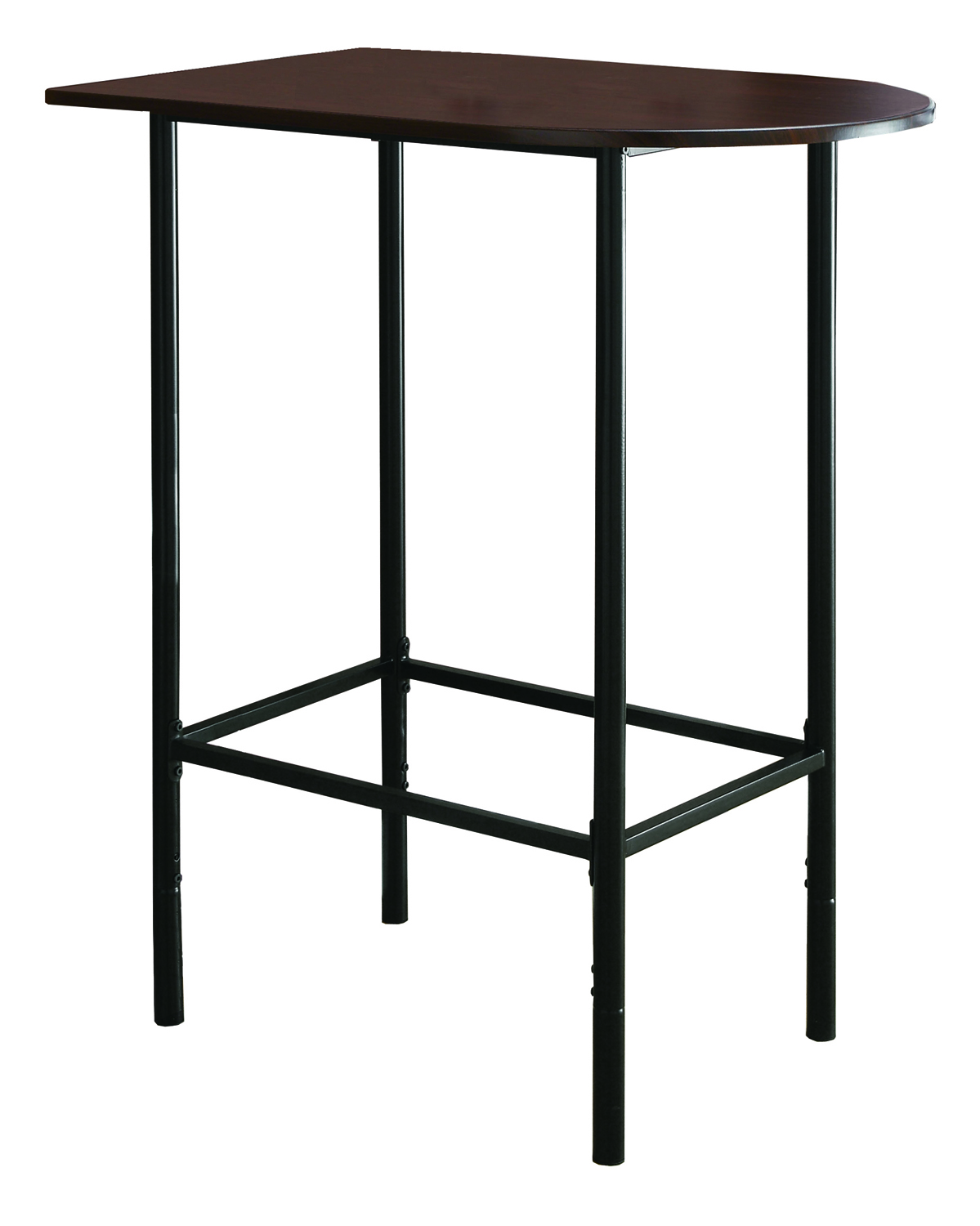 "Home Bar - 24""X 36""/ Cappuccino / Black Metal Spacesaver"