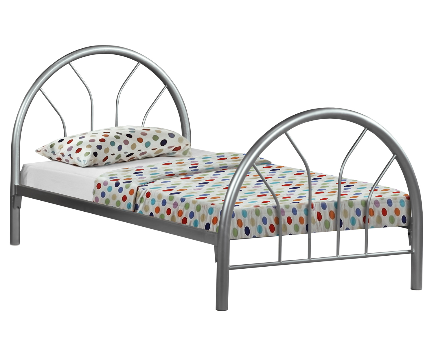 Twin Size Metal Bed Frame, Silver