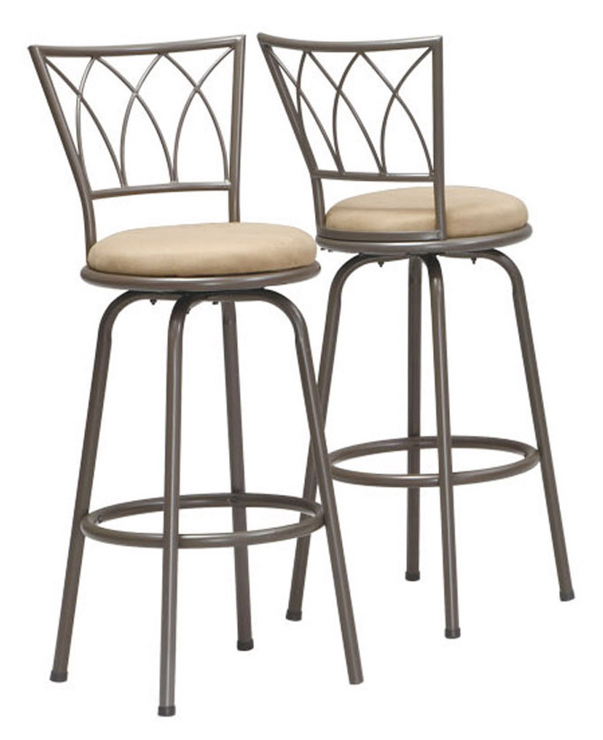 "Barstool - 2 Pieces / 43""H / Swivel / Dark Coffee Metal"