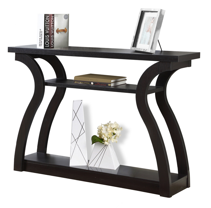 "47"" Hall Console Accent Table, Cappuccino"