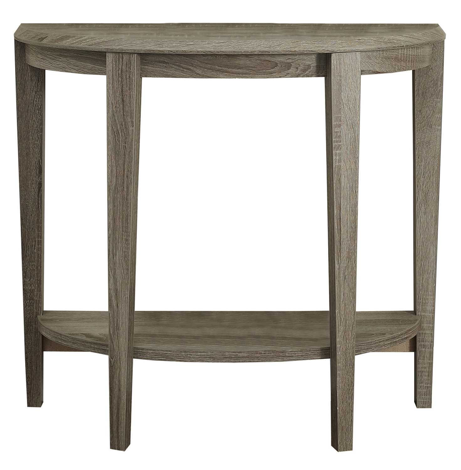 "Accent Table, 36""L, Dark Taupe Hall Console"