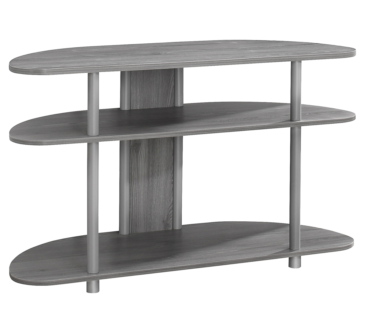 "38""L TV Stand, Gray With Silver Accent"