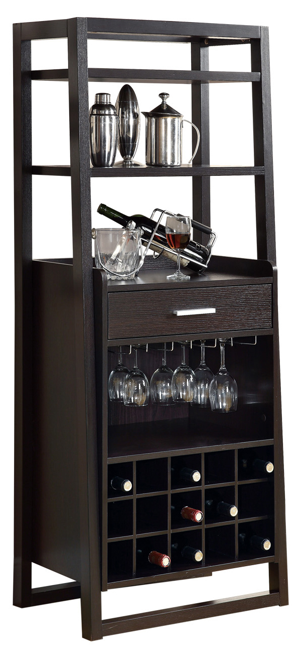 "60""H Ladder Style Home Bar Unit, Cappuccino"