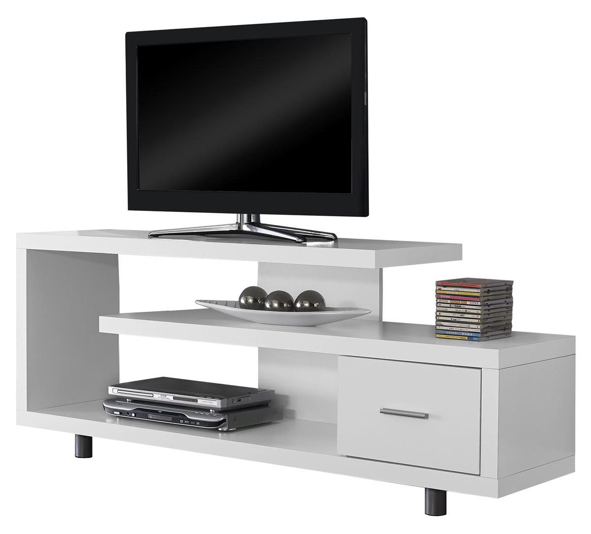 "60""L TV Stand, White"