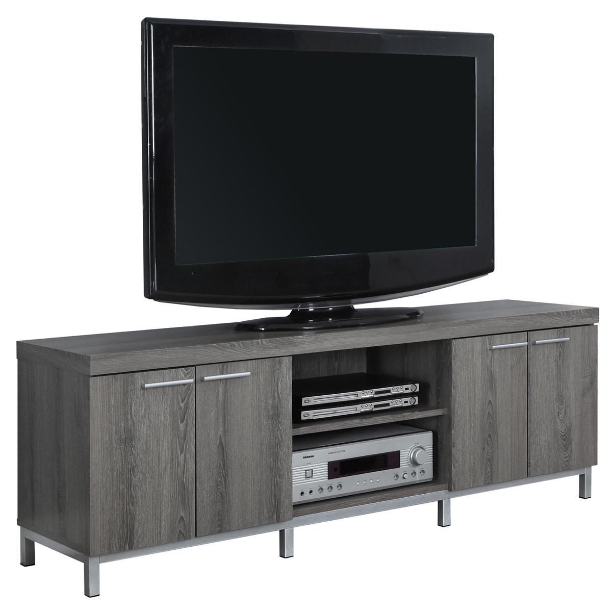 "60""L TV Stand, Dark Taupe"