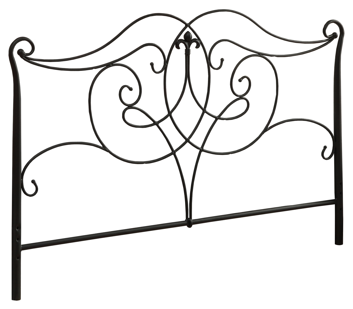 Queen Or Full Size Bed Headboard or Footboard, Satin Black