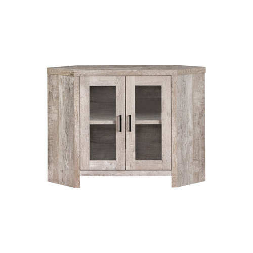 """TV STAND - 42""""L / TAUPE RECLAIMED WOOD-LOOK CORNER"""