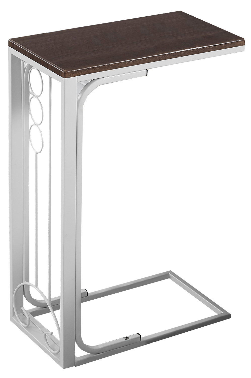 """16"""" Accent Table, Antique White Base and Cherry Top"""