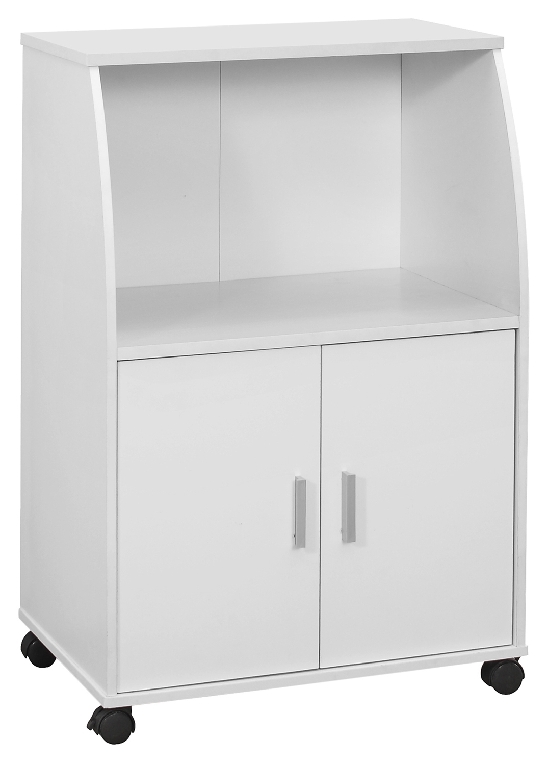 "33"" Kitchen Cart with Castors, White"