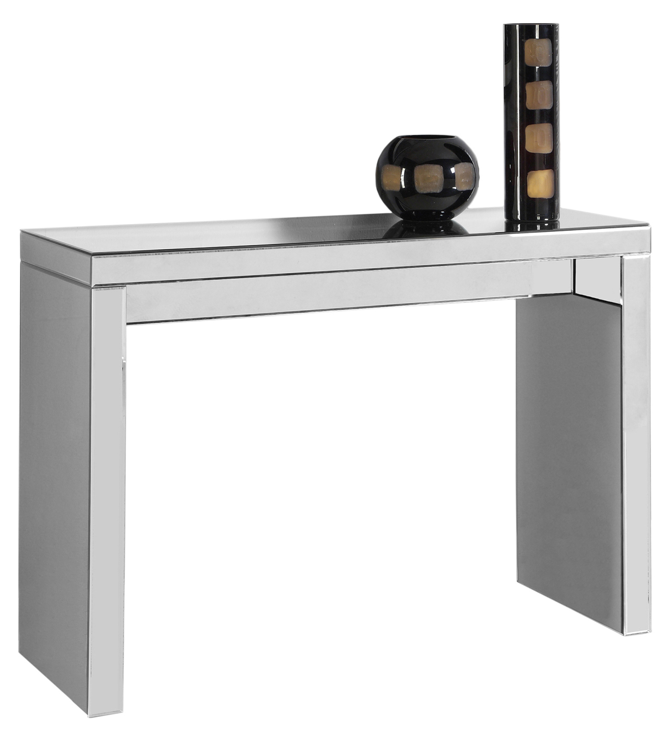 """42"""" Console Table in Mirror Finish"""
