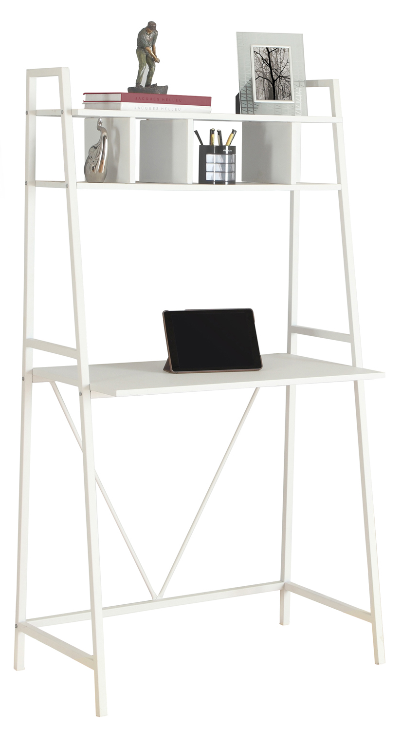 "32"" Computer Desk with Display Shelf, White"