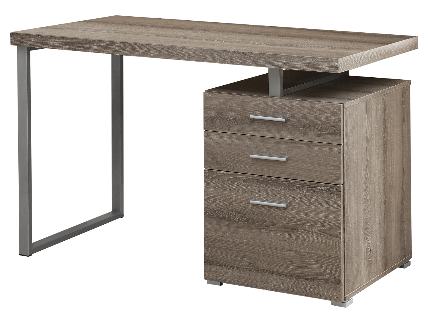 "48"" Left Or Right Facing Computer Desk, Dark Taupe"