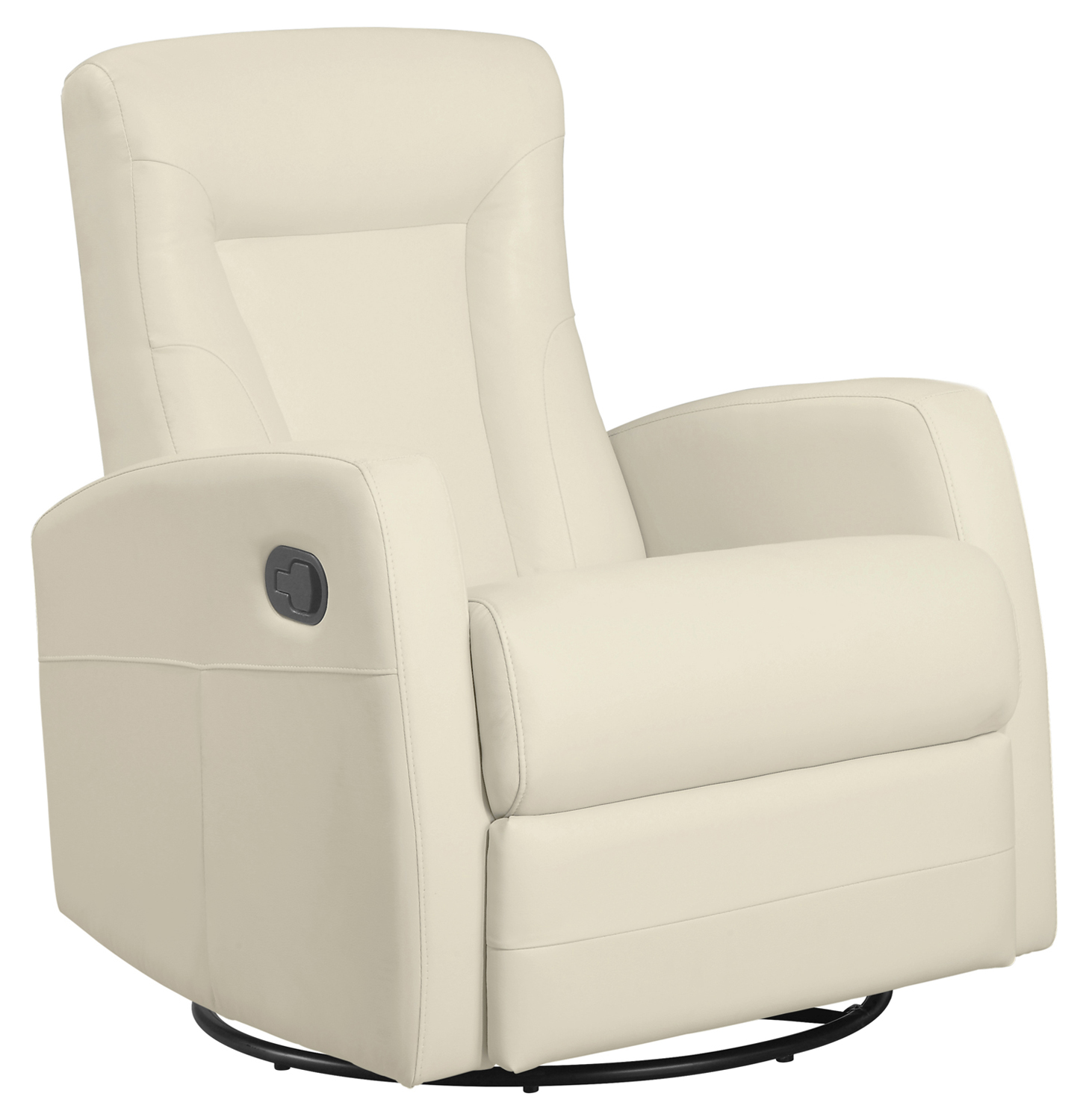 Recliner - Swivel Rocker / Ivory Bonded Leather Fabric