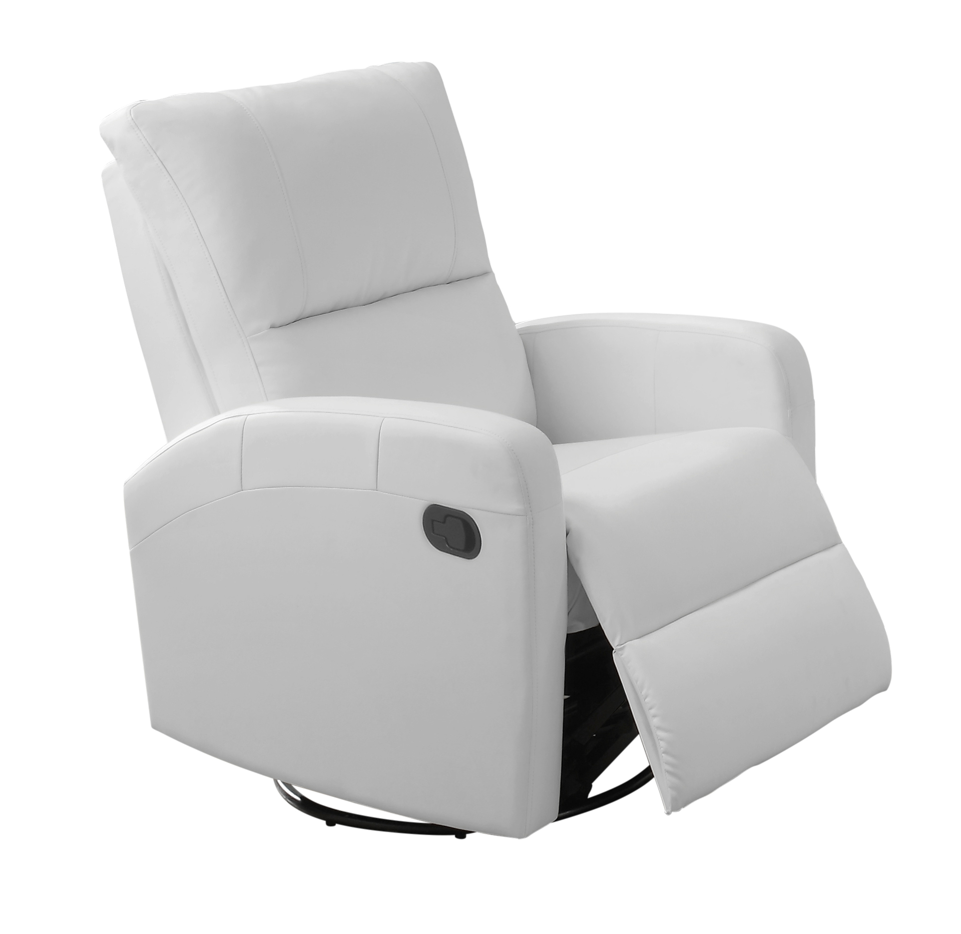 Recliner - Swivel Glider / White Bonded Leather