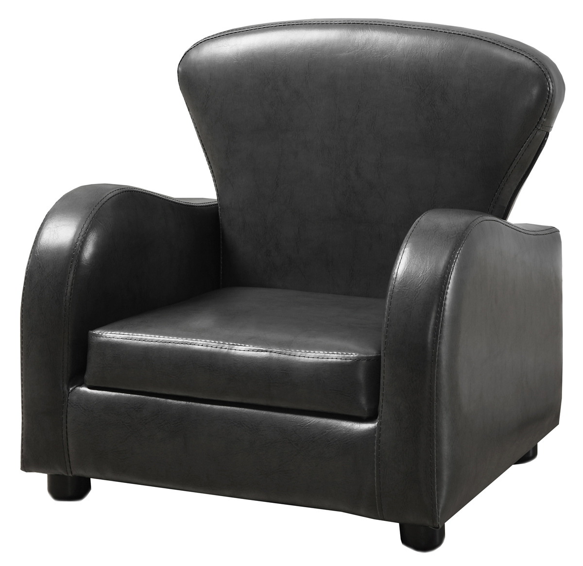 Juvenile Chair - Charcoal Grey Leather-Look