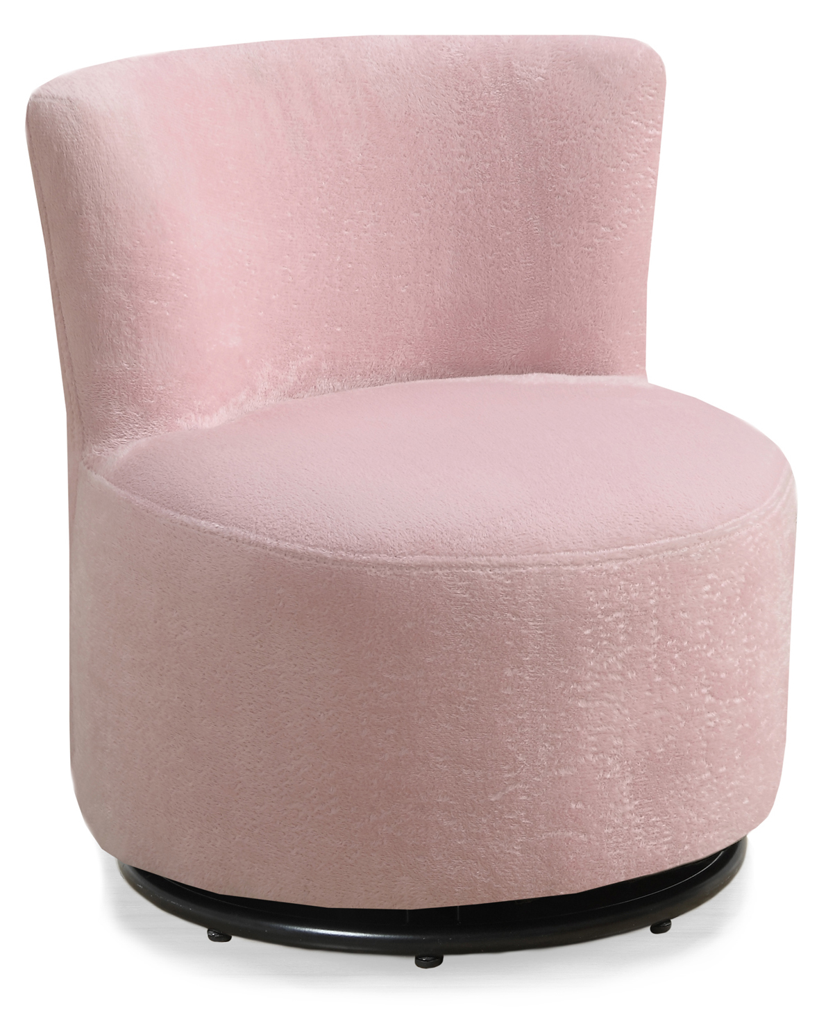 Juvenile Chair - Swivel / Fuzzy Pink Fabric