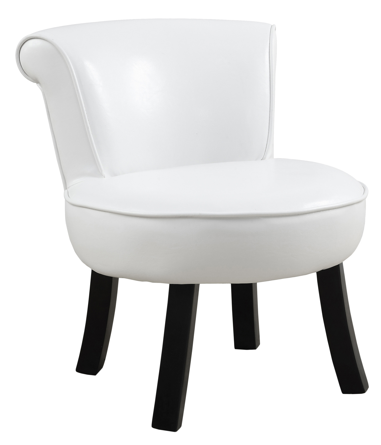 Juvenile Chair - White Leather-Look